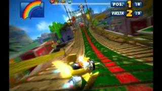 Sonic & Sega All Stars Racing (PS3) Jump Parade (Expert Race) Tails Gameplay