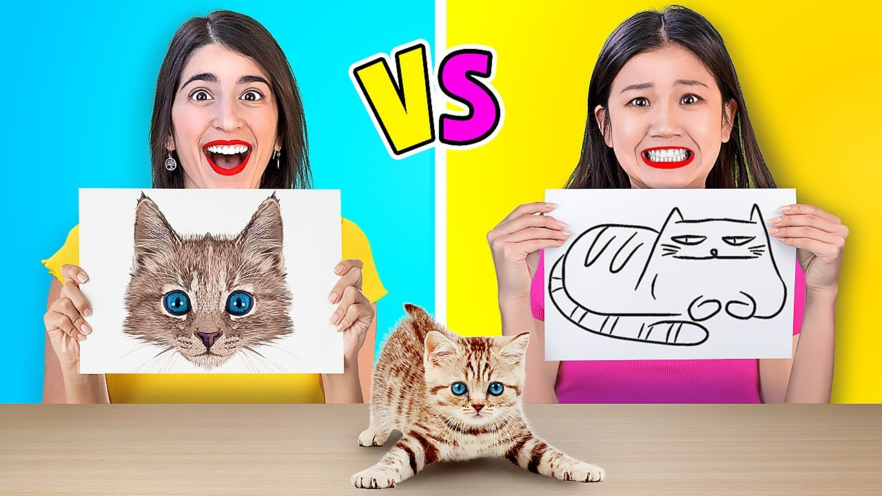 WHO DRAWS IT BETTER? || Crazy Art Challenge And Drawing Hacks By 123 GO! GOLD