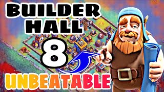BUILDER HALL 8 BEST BASE DESIGN w/PROOF | CoC Best Bh8 Base Design 2018 |  Clash of Clans