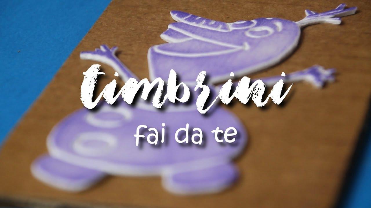 Popolare TIMBRI FAI DA TE // DIY STAMPS - YouTube CF56