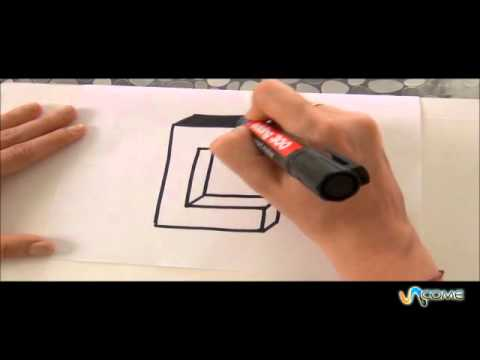 Come disegnare la lettera c in 3d youtube for Fare una casa online gratis 3d