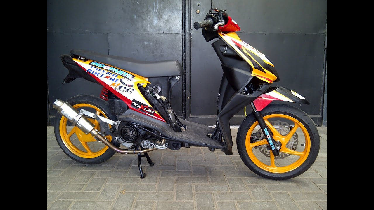 kumpulan modifikasi motor mio sporty road race
