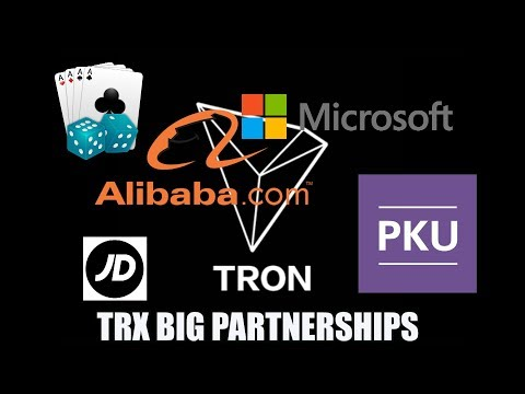 TRON + Microsoft + JD + PKU + Alibaba + Game.com + coin burn + new Exchange