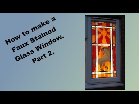 How To Make A Faux Stained Glass Window. Part 2.