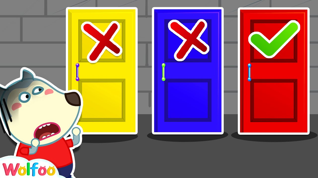 No No Don't Open the Wrong Door #2  Wolfoo Family Kids Cartoon