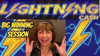 LIGHTNING CASH STRIKES OVER & OVER-Big Winning Session