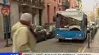 Minibuses en las calles de Madrid