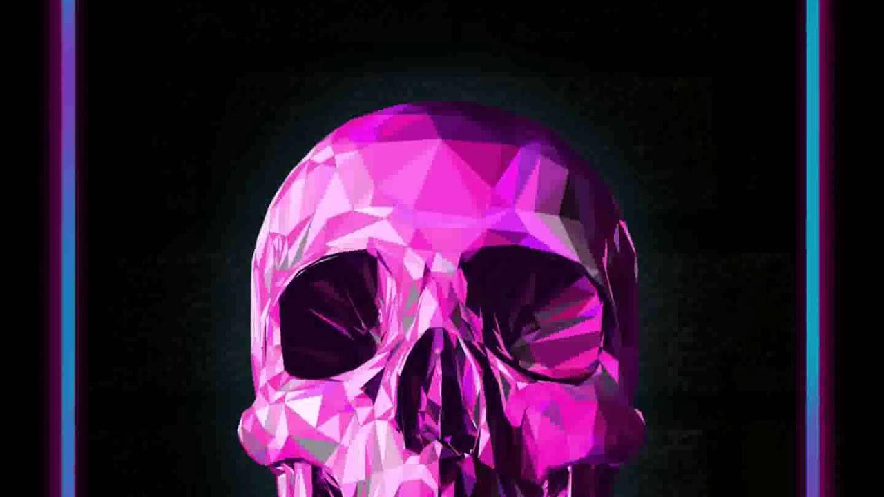 Incredible Neon Skull Wallpaper: [Samsung Theme-Live Wallpaper] Pink Neon Skull