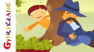 Lipem, lopom a szőlőt (gyerekdal, rajzfilm gyerekeknek)
