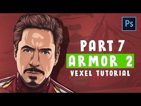 [ Photoshop Tutorial ] Vector / Vexel Art [PART 7 - ARMOR 2 ] (IRONMAN) thumbnail