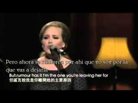 Adele Rumor Has It En Espanol E Ingles Lyrics