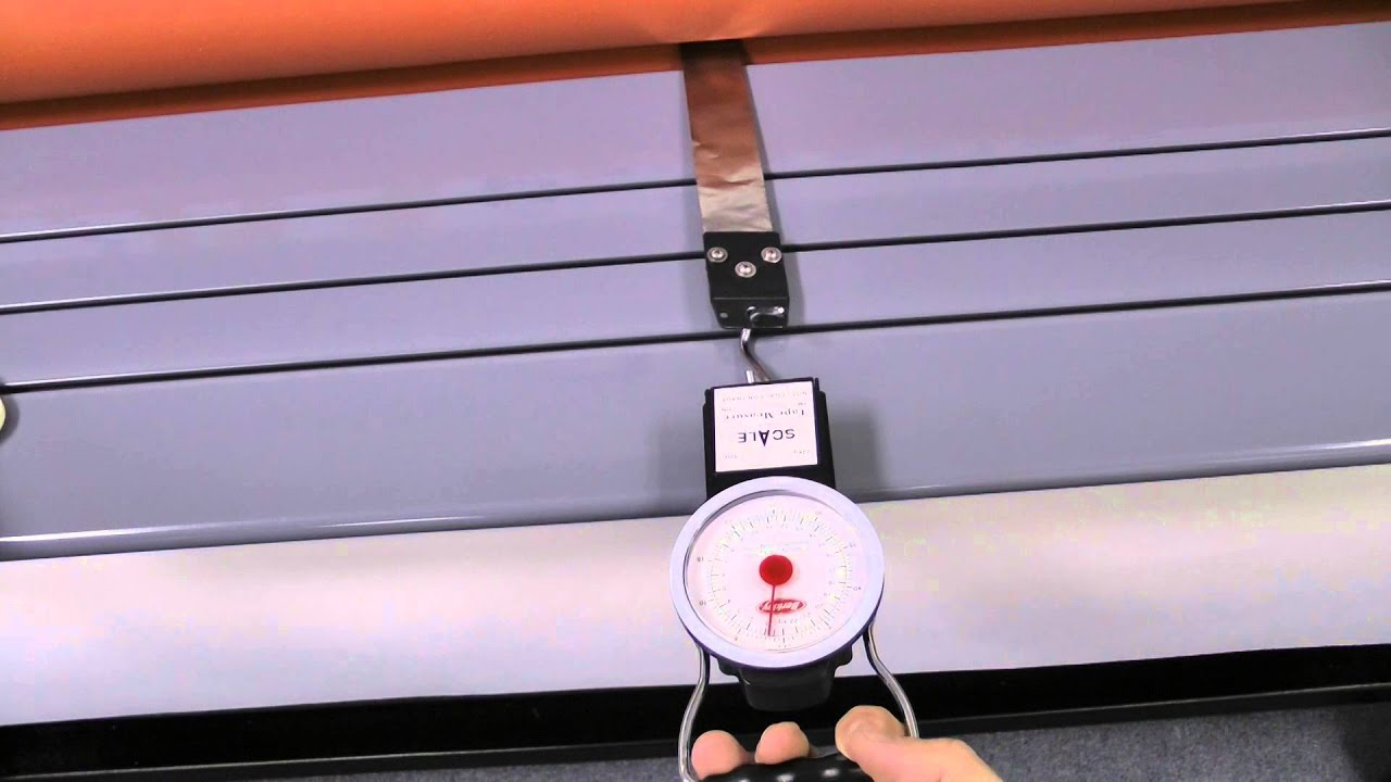 How To Adjust Roller Pressure Using A Push Pull Scale
