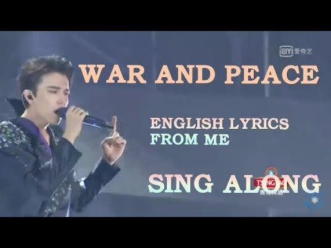 Dimash's War and Peace with Imaginary English Lyrics which allows you to sing along with Dimash.