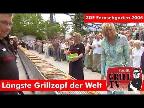 Grösste Grillzopf der Welt im ZDF Fernsehgarten 2005 #rummelgrilltv