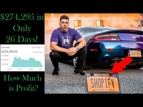 $274,295 in First 26 Days with a New Shopify Dropshipping Store