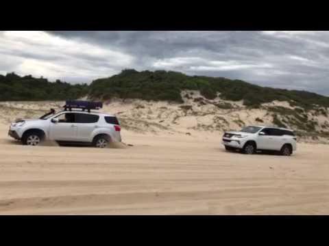 Isuzu beats toyota mux fortuner off-road beach
