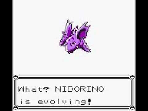 Nidorino Evolving in Pokemon Yellow - YouTube