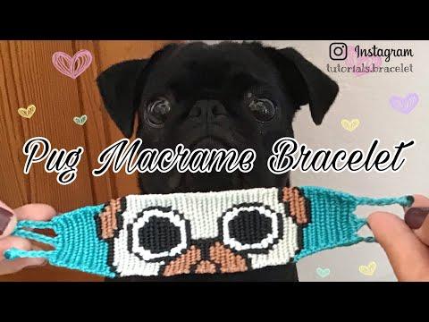 Pug Macrame Bracelet Tutorial