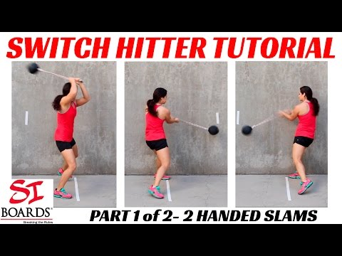 Rotation Training for Baseball Hitting Power | Switch Hitter Tutorial Part 1 Si Boards Rope Balls