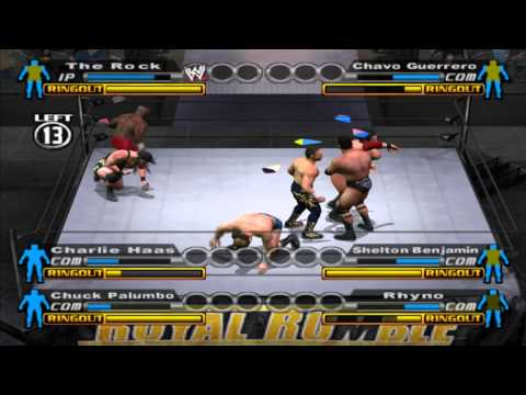 WWE: Smackdown vs Raw (PS2) walkthrough - Royal Rumble