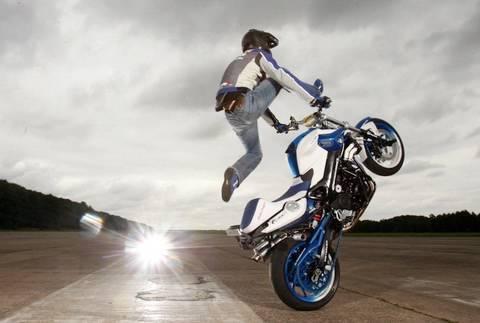 Mattie Griffin's F800R stunt bike - YouTube