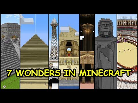 World's 7 Wonders In Minecraft | Minecraft Hindi