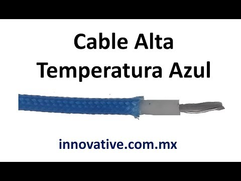 Cable Alta Temperatura Azul, Verde, Rojo para Horno Industrial y Maquina de Inyeccion de Plastico