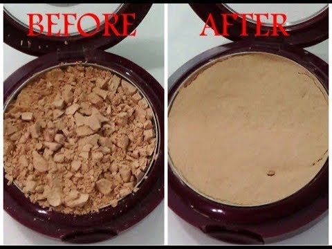 MAKEUP HACK: How To Fix a Broken Compact Powder Without Using Rubbing Alcohol./PRINCESS EMELDA/