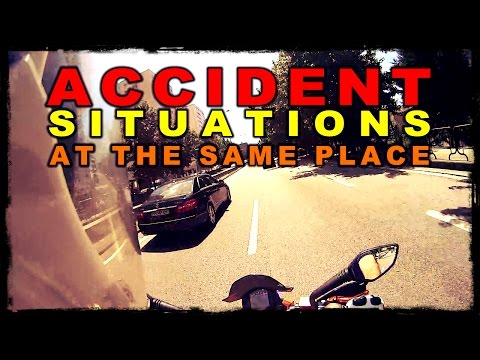 2 Close Calls, Almost Motorcycle Accident, Traffic Collision, Near Crashes - KTM Duke 125 Laranjinha