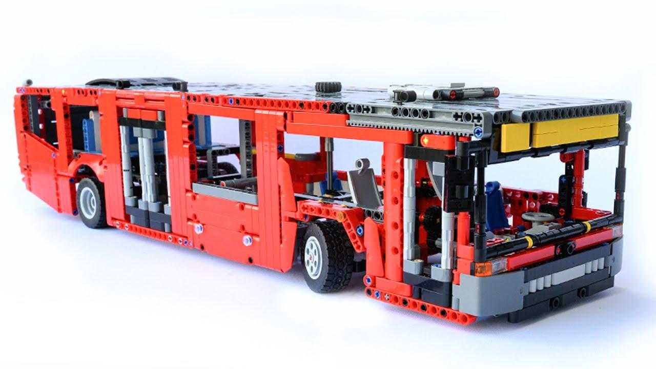 LEGO Technic BUS - 42098 C model - with instructions - YouTube