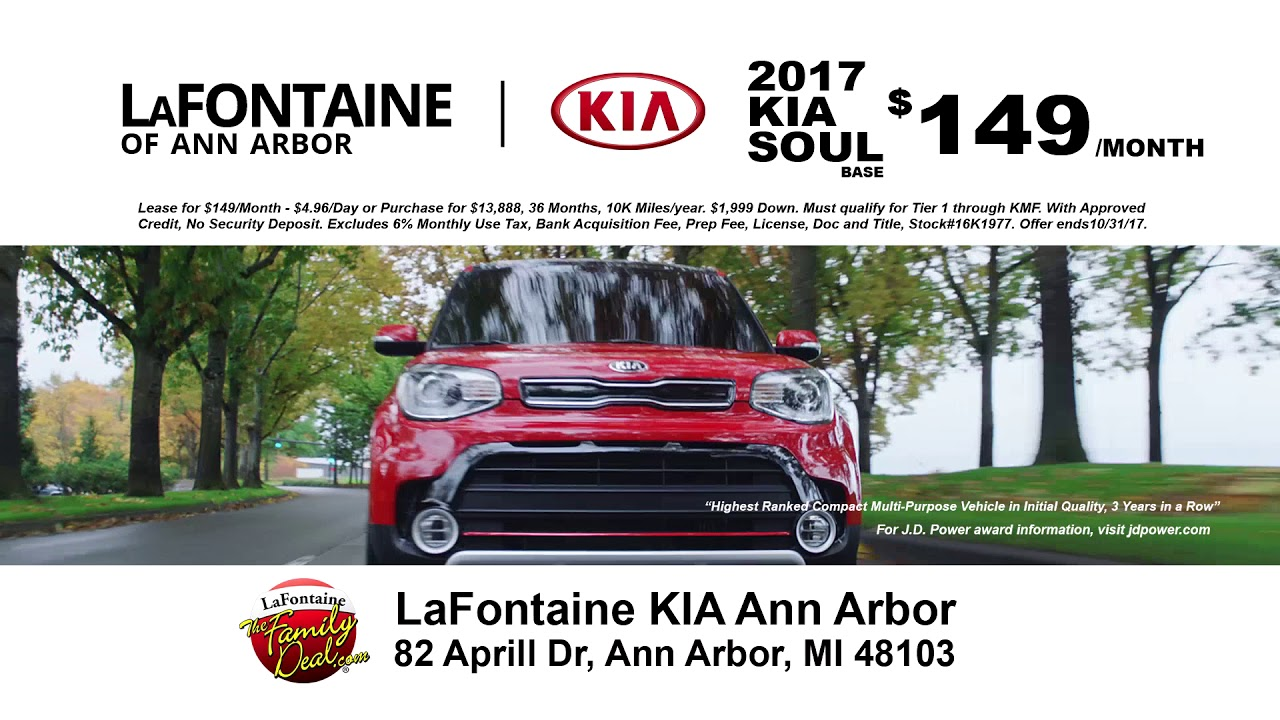 lafontaine kia of ann arbor family deal of the month. Black Bedroom Furniture Sets. Home Design Ideas