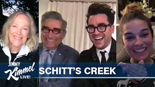 The Cast of Schitt's Creek on Emmys Sweep & Eugene Levy Impressions