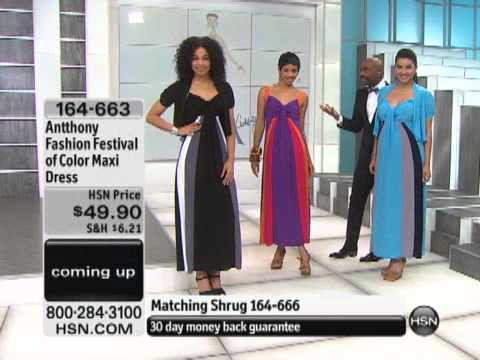Antthony Fashion Festival of Color Maxi Dress. http://bit.ly/2XYaD9u