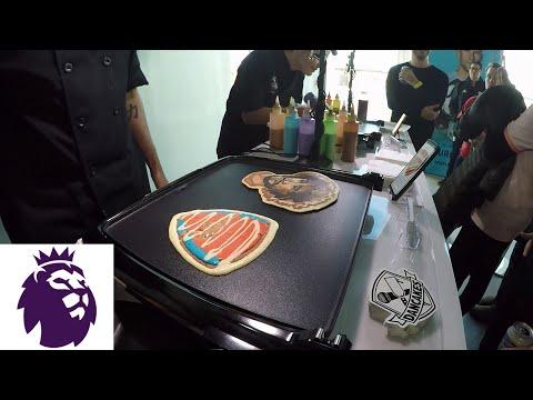 Making Premier League pancake art with Dancakes at NYC Premier League Fan Fest   NBC Sports