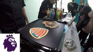 Making Premier League pancake art with Dancakes at NYC Premier League Fan Fest | NBC Sports
