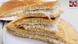 BÁNH BÒ DỪA nướng CHẢO - Vài phút vào Bếp có Bánh Bò Nhân Dừa-Bánh Bò Rễ Tre tuổi thơ by Vanh Khuyen