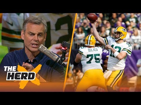 Colin reacts to Aaron Rodgers breaking his collarbone, Matt Ryan's Week 6 loss | THE HERD