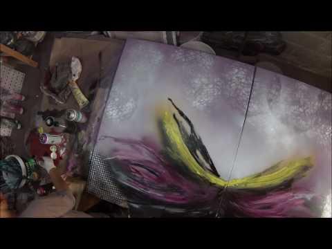Tableau Abstrait Flamenco Peinture Sur Toile Video Youtube