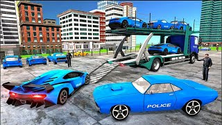 US Police Car Transporter Truck: Plane Transport Game 2020 #2 - Android Gameplay screenshot 4