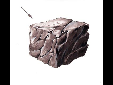 Интерьерный скетч. текстура камня.  the teaching of drawing markers