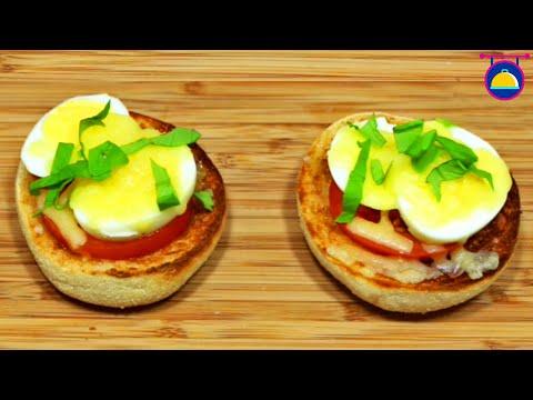 recette-de-pizza-muffin-aux-œufs-|-english-muffin-egg-pizza-|-cuisine-company