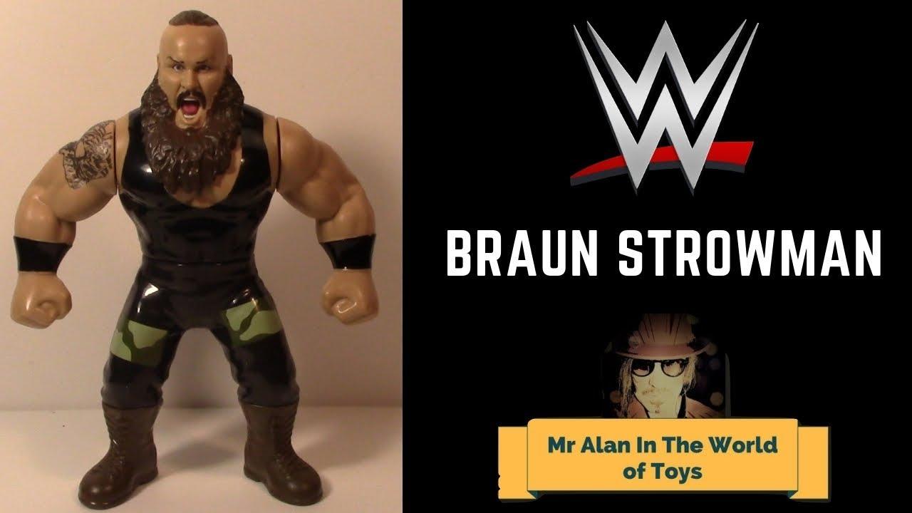 WWE Mattel Braun Strowman Retro Figure Series 8 loose