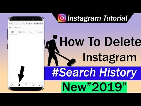 How to remove all search history from instagram