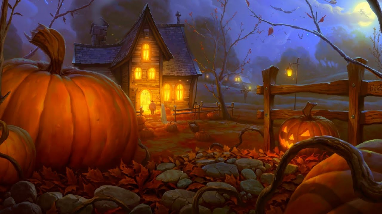 Haunted House 3d Live Wallpaper Download Spooky Music Haunted Pumpkin Patch Youtube