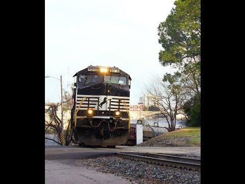 Railfanning Columbia, South Carolina  3-15-15