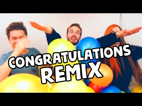 PewDiePie - Congratulations (Remix by Party In Backyard) [with Lyrics]