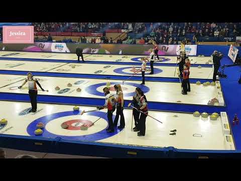2018 World Women's Curling Championship- Korea vs Germany