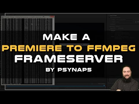 Render from Premiere to FFMPEG using a Frameserver