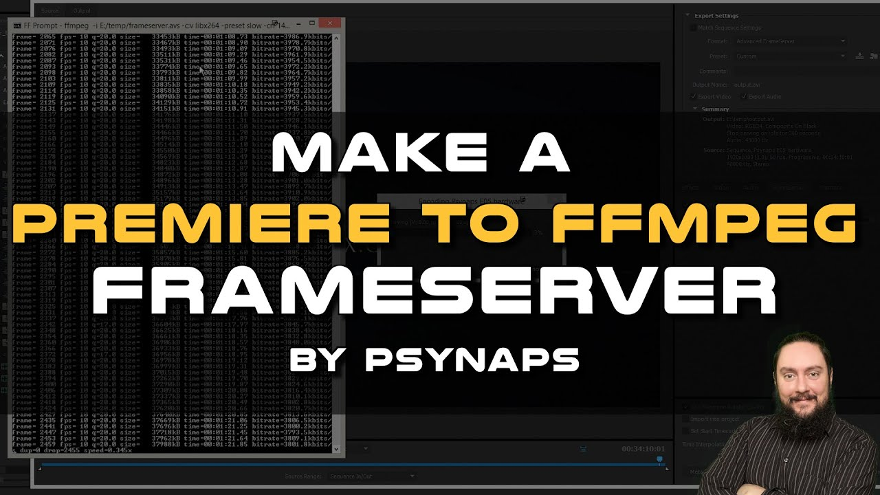 Render from Premiere to FFMPEG using a Frameserver - Psynaptic Media