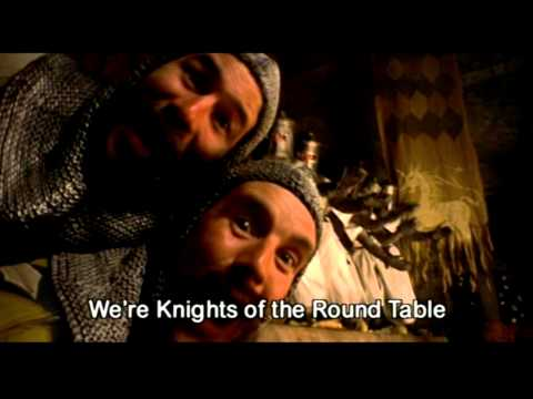 Monty Python and the Holy Grail - Camelot - Knights of the Round Table (with lyrics)